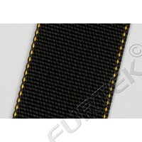 Нейлоновая лента марки NW-4088-T7 черная с желтой окантовкой 45 мм, 500 м, 100 м