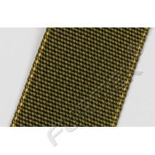 Прорезиненная нейлоновая лента марки NW-4088-T7R 45 мм цвет хаки с желтым кантом 50 м, 100 м