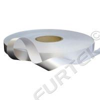 Сатиновая лента с чеканным краем 30 мм, белая 100 м, 200 м
