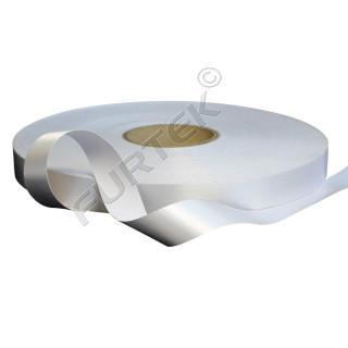 Сатиновая лента белая с чеканным краем 30 мм, 100 м, 200 м