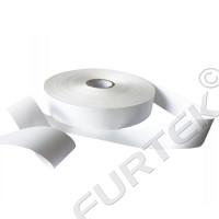 Термоклеевая сатиновая лента марки SH705  белая 100 м, 200 м.