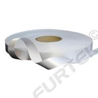 Сатиновая лента с тканым краем белая 25 мм, 100 м, 200 м