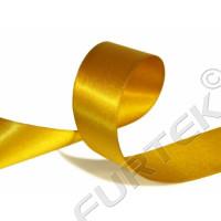 Лента из сатина с тканым краем золотистая 100 м, 200 м