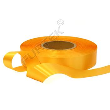 Лента сатиновая золотисто-желтая 100 м, 200 м, 400 м