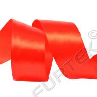 Лента сатиновая премиум ярко-красная 100 м, 200 м