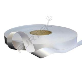 Лента сатиновая клеевая стандартная 100 м, 200 м белая