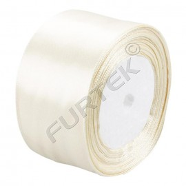 Лента сатиновая молочного цвета в намотке 100 м, 200 м, 400 м