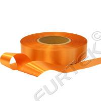 Лента сатиновая оранжевая 100 м, 200 м. 400 м.