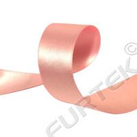 Сатиновая лента с тканым краем розовая 100 м, 200 м