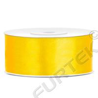 Лента сатиновая желтая 100 м, 200 м, 400 м.