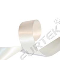Лента из сатина 12 мм кремовая 100 м, 200 м