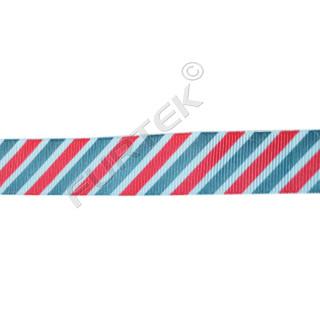 Репсовая лента с двухцветной печатью в полоску