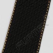 Нейлоновая лента без печати марки NW-4088-T7 черная с желтой окантовкой 45 мм, 500 м, 100 м