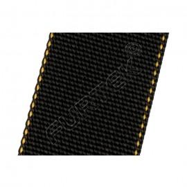 Нейлоновая лента без печати марки NW-4088-T7 черная с желтой окантовкой 45 мм, 50 м, 100 м