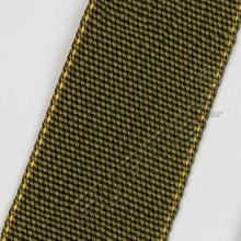 Прорезиненная нейлоновая лента без печати марки NW-4088-T7R 45 мм цвет хаки с желтым кантом 50 м, 100 м