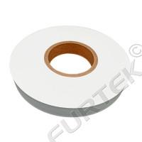 Белая сатиновая лента марки HS 701 термоклеевая 100 м,183 м