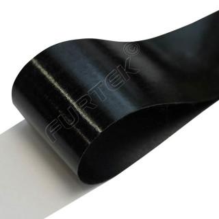 Лента сатиновая клеевая черная 100 м, 200 м