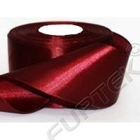 Лента из сатина класса премиум цвета бордо 100 м, 200 м
