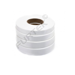 Лента сатиновая белая 100 м, 200 м, стандарт