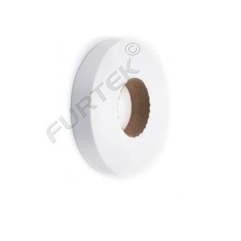 Лента сатиновая белая матовая 100 м, 200м.