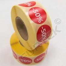 Круглый стикер диаметром 60 мм для маркировки одежды