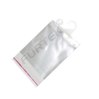 Пакет с липким клапаном и вешалкой-хенгером 21,5Х30 см