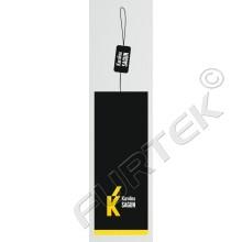 Навесной картонный ярлык 5,5х28 см черный с желтым