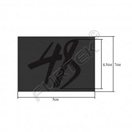 Коричневый ярлык с блинтовым тиснением из кожзаменителя 50х70 мм