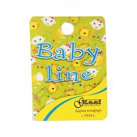 Картонная бирка с отверстием и полноцветной печатью 45х129 мм для детских носков