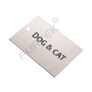 Навесная картонная бирка для товаров для животных 95х65 мм