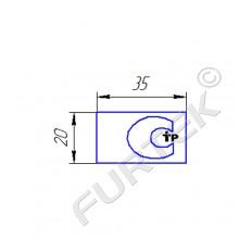 Нейлоновый ярлык с монохромной печатью 20х35 мм