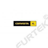 Жаккардовый ярлык вешалка-петля с логотипом и размером 50х15 мм