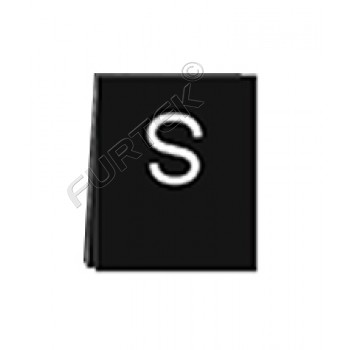 Черный сатиновый размерник 40х10 мм