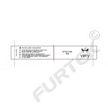 Комбинированный сатиновый ярлык 98х15 мм для нижнего белья