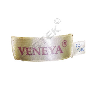 Брендовый вшивной ярлык на основе сатиновой ленты с чеканными краями 50х17 мм