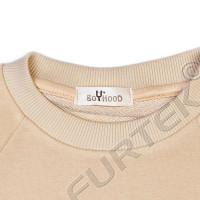 Сатиновый ярлык с печатью для детской одежды 35х70 мм