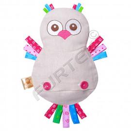 Вшивной ярлык для мягких игрушек на основе нейлоновой ленты 20х50 мм