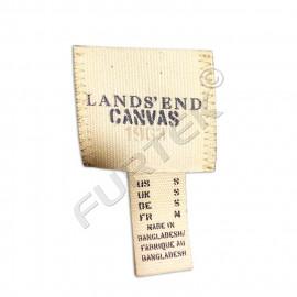 Тканевая этикетка на основе киперной ленты 25х30 мм