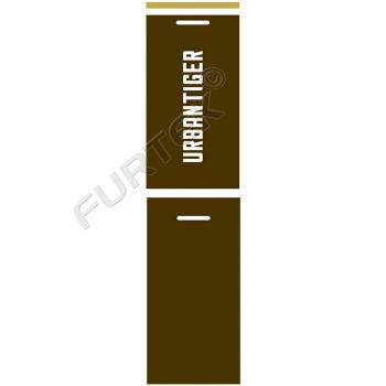 Навесной двойной кожаный ярлык для спортивной одежды 45х90 мм