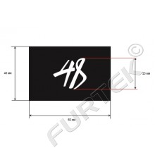 Жаккардовый черный ярлык-логотип 40х60 мм