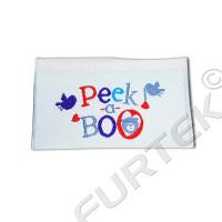 Жаккардовая этикетка Флажок с тонким краем на пришив