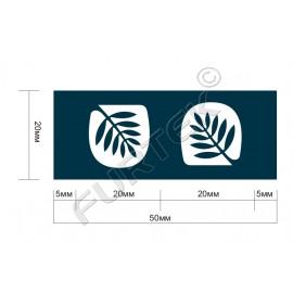 Жаккардовый вшивной ярлык для подушек 20х50 мм со сгибом