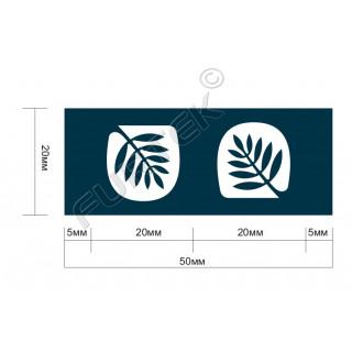 Жаккардовый вшивной ярлык для подушек 20х50 со сгибом