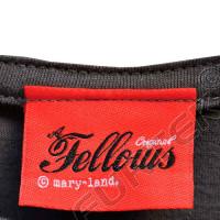 Вшивной жаккардовый ярлык со сгибом для рабочей одежды 24х10 мм
