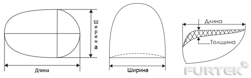 Показана схема наплечников типа реглан и полуреглан