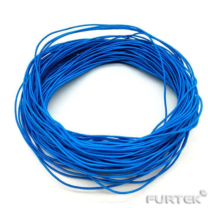 Шляпная резинка синего цвета