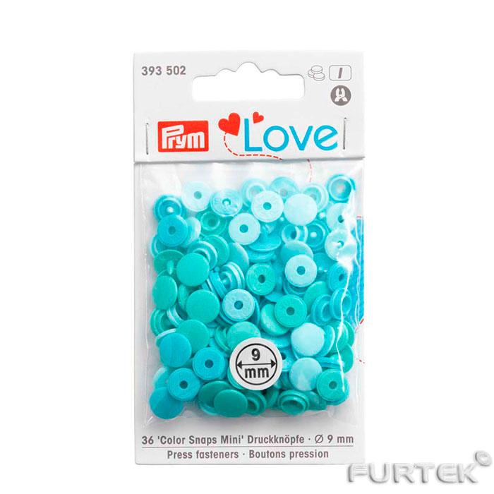 Кнопки Color Snaps Mini Prym Love голубые