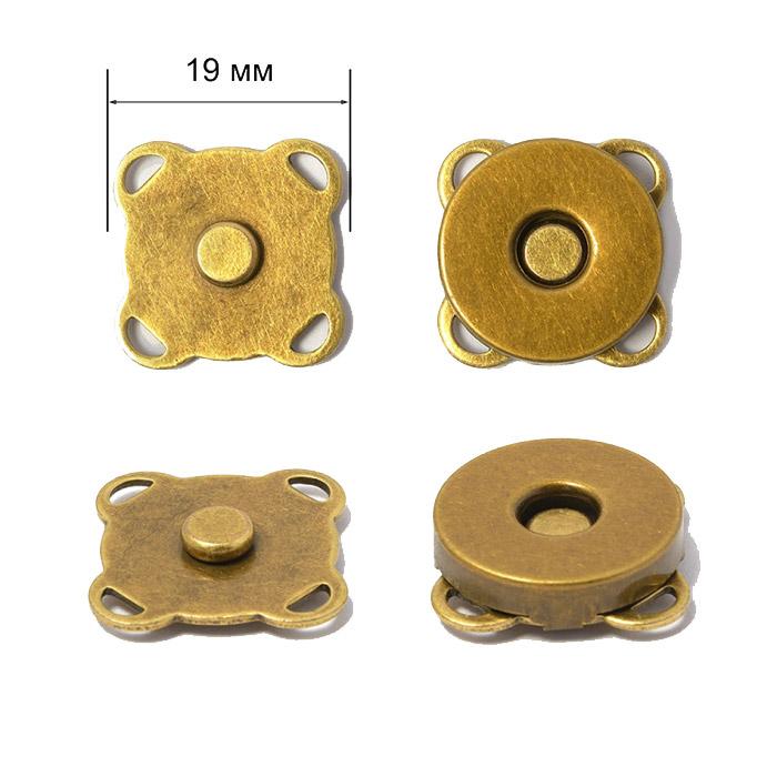 Размер 19 мм пришивной магнитной кнопки