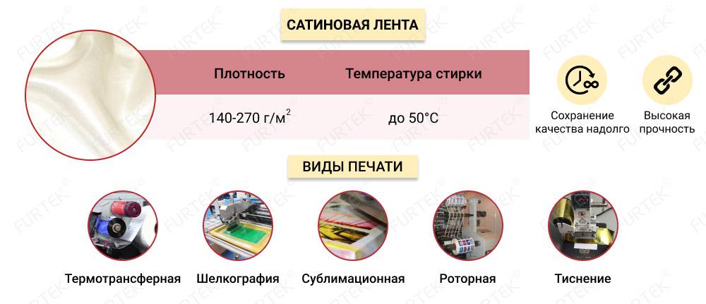 Информация о сатиновой ленте