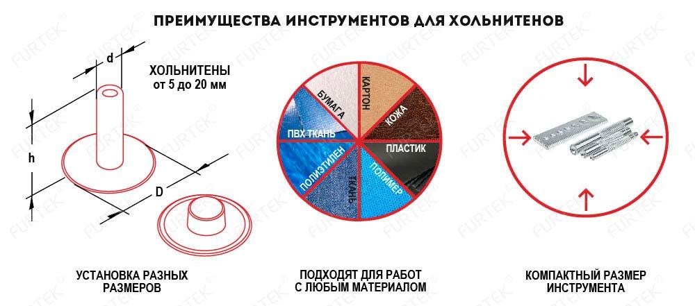 Преимущества инструментов для хольнитенов